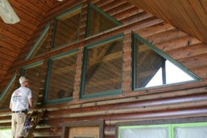 Log Home Chinking and Staining