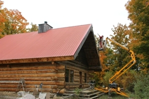 Log Cabin Restoration | Log Cabin Media Blasting by the LogDocotors.
